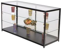 glass display cases tempered w aluminum