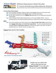 New Orleans Convention Center Map by Locations Airport Map Airport Shuttle New Orleans