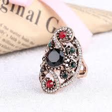 wedding ring dubai hot fashion turkish jewelry dubai color gold ring resin