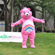 Care Bears Halloween Costume Cheer Bear Pink Care Bear Mascot Costume Mascot Shows