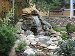 Waterfall Ideas For Backyard Bathroom Ideas Small Fish Ponds With Tall Rock Waterfall Amazing