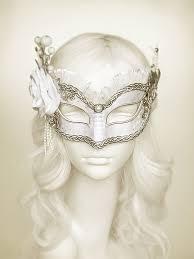 Venetian Halloween Costumes White U0026 Silver Masquerade Mask Accents Venetian