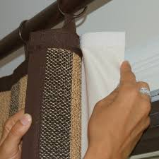 Make Your Own Roller Blinds Bamboo Woven Stripe Ring Top Curtain Velcro Is Used To Attach