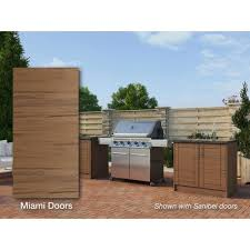 outdoor kitchen cabinet doors diy weatherstrong miami teak 16 73 25 in x 34 5 in x