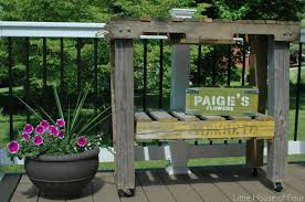 how to make a workbench out of pallets little house of four