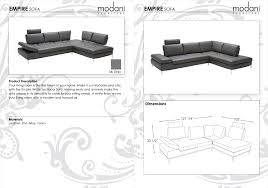 Modern Line Furniture Reviews by Dark Gray Modern Empire Sofa Right