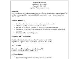 Sample Resume For Cna With No Previous Experience by Cna Resume Entry Level Sample Cna Resume Sample Resume Cna Nurse
