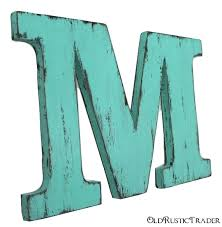 wooden letter m 12 inch letter wall decor wood letters shabby