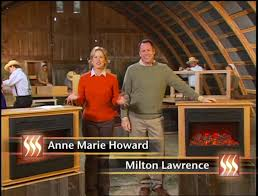 heat surge amish fireplace infomercial hosts and family moments