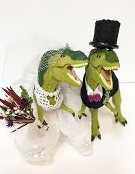 dinosaur wedding cake topper custom dinosaur wedding cake topper animal wedding cake