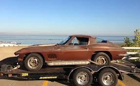 1963 thru 1967 corvettes for sale corvettes on craigslist 1967 corvette sting barn find