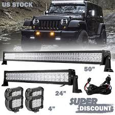 24 inch led light bar offroad 50 24inch led light bar 4x 4inch cree work pods offroad suv 4wd