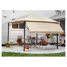 Castlecreek Patio Furniture by Castlecreek 10 U0027x10 U0027 Gazebo With Awning Steel Frame 581480