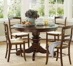 40 Inch Round Table Dining Room Stylish Tivoli Fixed Pedestal Table Pottery Barn 40