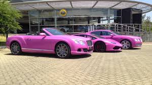 bentley purple lamborghini and bentley go pink for breast cancer awareness month