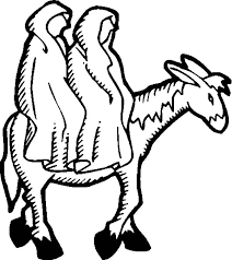 mary joseph donkey coloring pages place color