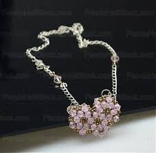 elegant heart necklace images How to make a beaded necklace in unique elegant heart shape how jpg