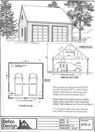 Double Car Garage Size Suv Sized Two Car Garage With Attic Truss Roof Plan 676 4 26 U0027 X 26