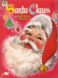 santa claus vintage christmas coloring book familiar
