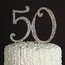 50th cake topper 50 cake topper gold 50th birthday or anniversary party