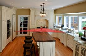 kitchen work triangle cabinets by graber