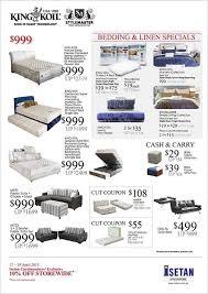 King Koil Sofa King Koil U0026 Stylemaster Bedding U0026 Linen Specials Isetan Till 3