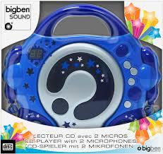 cd player für kinderzimmer bigben tragbarer cd player cd47 blau für kinder 2 mikrofone