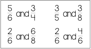 free worksheets comparing fractions with pictures free math