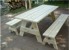 Free Plans Round Wood Picnic Table by Picnic Table Plans To Build Picnic Table End View Wood Crafts