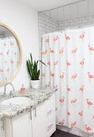 Flamingo Bathroom A Bubbly Lifehome Guest Kid Bathroom Room Reveal A Bubbly Life