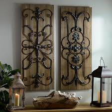 adelaide wooden plaque set of 2 wooden plaques wrought