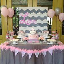 chevron pink grey baby shower carriage rossette cake dessert