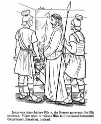 easter coloring pages religious easter bible coloring page jesus being taken to pilate