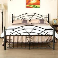 rod iron beds walker edison queen size industrial wood and metal