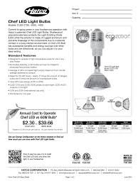 Led Light Bulbs Vs Energy Saving by Chef Led Light Bulbs Cled Series Hatco Pdf Catalogues