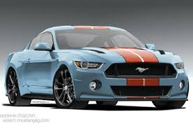 2015 mustang gets rendered in gulf livery stangtv