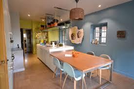 cuisine jaune et verte décoration cuisine bleu et jaune decoration guide