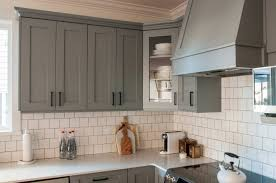 kitchen beautiful backsplash for gray cabinets gray paint for