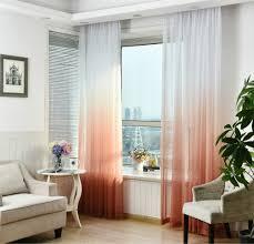 Wohnzimmerfenster Modern Farbverlauf Fenster Tüll Vorhänge Für Wohnzimmer Mädchen