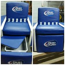 bud light for sale find more bud light leather ottoman chair ice chest or storage