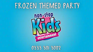 frozen themed party entertainment frozen party packages from non stop kids entertainment youtube