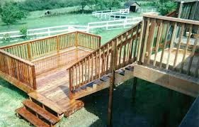deck stair railing deck stair handrail height how to add stairs to