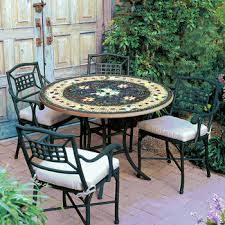 Mosaic Patio Tables Iron Mosaic Patio Furniture Collection