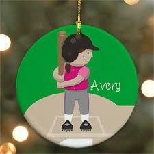 Softball Christmas Ornament - personalized sports christmas ornaments
