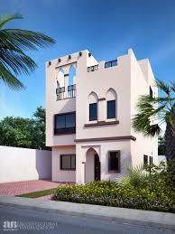 proposed 3d photo rendering of arabic style villa villa track