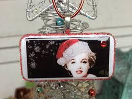 Marilyn Monroe Christmas Ornaments - marilyn monroe in santa hat domino christmas by ebardesignsbc