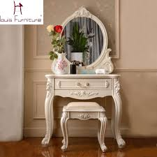 vanity dressing table with mirror france style elegant bedroom furniture ivory dressing table with