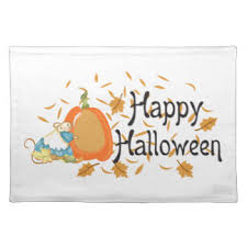 halloween placemats zazzle