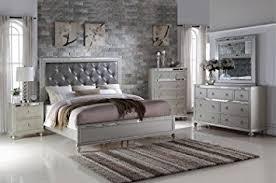 amazon com soflex kiana silver grey diamond tufted headboard