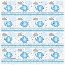 blue elephant baby shower wrapping paper walmart